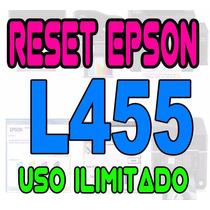 Reset Oficial Epson L455 Repara Almohadillas Envio Gratis
