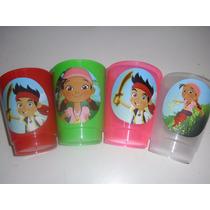 Vasos Plasticos Personalizados Jake El Pirata Lavables 10u
