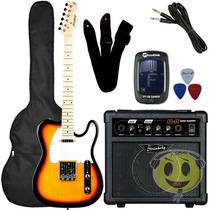 Kit Guitarra Strinberg Telecaster T-250s + Cubo Sg 15 Loja
