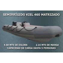 Semirrigido Kiel 460 Matrizado Con Mercury 40 Hp Cero Horas