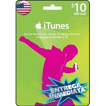 Tarjeta Itunes De $10 Usd Americana Para Pokemon Go Iphone