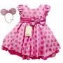 Vestido Festa Infantil Minnie Rosa Backyardigans E Tiara