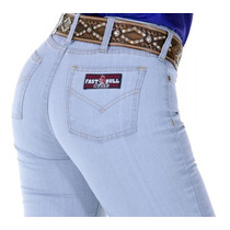 Calça Jeans Country Fast Bull Feminina Delave