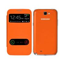 Samsung Galaxy Note 2 N7100 Flip Cover S View Color Naranja
