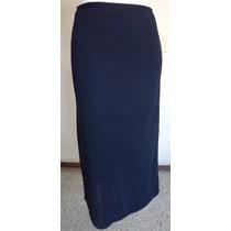 Talla-s Falda Larga Azul Marino Cintura Elástica! Fag330