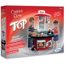 Brinquedo Infantil Cozinha Top Completa Casinha Flor Xalingo