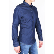 Camisa De Jean Denim Silver Plate Exclusiva