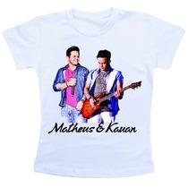 Camiseta Baby Look Feminina - Matheus E Kauan