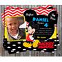 Invitación De Cumpleaños Mickey Mouse Disney 2016 Photoshop