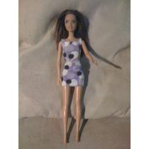 Barbie Morena Vestido Lila