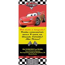 50 Convite De Aniversário Ingresso Carros Disney 48horas