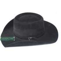 G- Chapéu Country Australiano Rodeio Cor Preto Aba 8,8cm