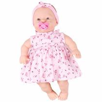 Boneca Baby Fofinha Com Vestido 106 Frases Diver Toys - 673