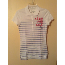 Polo Aeropostale Blanco (abercrombie, Hollister, Ae) Dmm