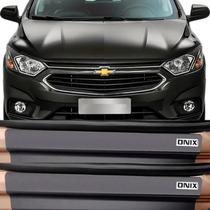 Kit Adesivo Soleira Premium Resinada Chevrolet Onix 2017 /..
