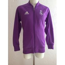 Chamarra Real Madrid Anthem Jacket Morada Visita 2017 Adidas