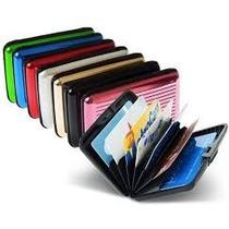 Tarjetero Aluma Wallet Proteja Sus Tarjetas Aluminio Metalic