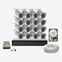 Kit Monitoramento 320gb Ahd 16 Câmera Infravermelho Ccd Sony