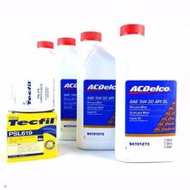 Troca Lubrificante Acdelco Oleo 5w30 Chevrolet Gm + Filtro