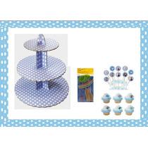 Base Porta Cupcakes Ponquesitos Armable 3 Niveles