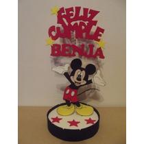 Adorno De Torta Mickey Mouse En Goma Eva