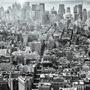 Aerial View Of Manhattan, New York - Lamina De 40 X 40 Cm