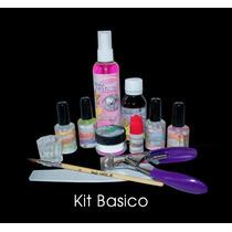 Paquete De Kit Básico Studio Nails+lampara+cojin+100 Tips