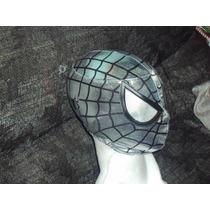 Mascara De Spiderman Armadura Plata P/niño Hombre Araña