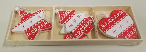 colgantes navideos de madera x unid