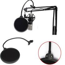 Pop Filter Para Microfone Filtro Estúdio - Frete Gratis