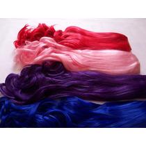 Aplique Tic Tac Cacheado Colorido - Vermelho Rosa Roxo Azul