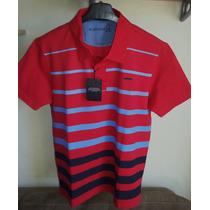 Camisa Polo Masculina Marca Famosa M.officer Listras -tm M