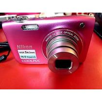 Câmera Digital Nikon Coolpix S3100 14.0 Mega Pixels Rosa
