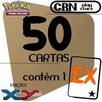 Lote 50 Cartas Pokémon Com 1 Ex Garantido Coleção X Y