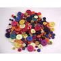 Botones 100 Unid - Ideal Artesanos - Color /tamaño Varios