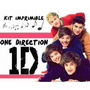 Kit Imprimible One Direction 1d Cumpleaños Fiestas Torta