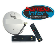 Kit Oi Tv Livre Hd C/ Antena+receptor Etrs37 P/ Sat. Ses6 !!