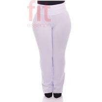 Calça Bailarina Suplex Plus Size Cintura Alta Tam Grandes