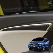 Honda Fit Aplique Prata Friso Lateral Interior Acessórios