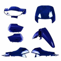 Kit Carenagem Completa Biz100 Azul Per 2004 Modelo Original