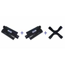 Kit Escapamento V8 2,5 Abafadores + X-pipe Tipo Magnaflow
