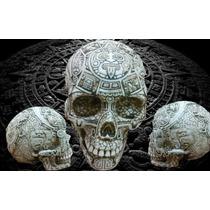 Craneo De Hueso De La Cultura Maya Totalmente Grabado!!