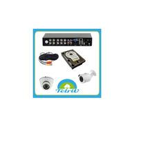 Kit Dvr Seguridad Ahd 8 Canales 4 Camaras Hd 1 Mp Disco 1 Tb