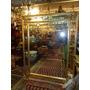 Espelho Estilo Clássico Antigo Moldura Madeira Dourado