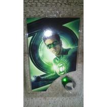 Anel Do Filme Do Lanterna Verde Que Acende Original Dc.