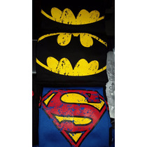 Franelas Algodon Personalizadas Estampados Superman, Batman