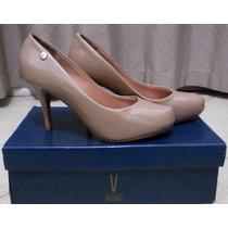 Sapato De Salto Alto - Cor Nude, Verniz - Vizzano, 35
