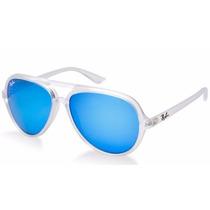 Lentes Gafas Ray Ban Cats Espejo Rb4125 Azul Naranja Rayban