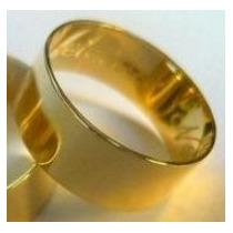 Uma Aliança 7 Milimetros Ouro Maciço 18k Puro