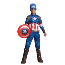 Rubie Vestuario Vengadores 2 Edad Capitán América Traje Lujo